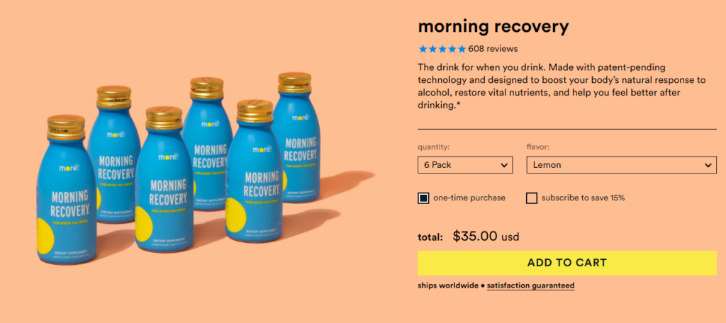 Buy Morning recovery from morelabs