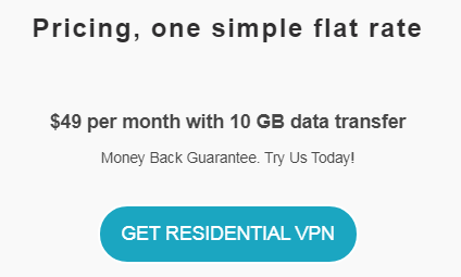 Residential VPN Pricing