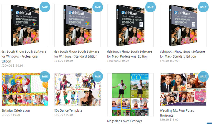 dslrbooth templates Sale and Deals