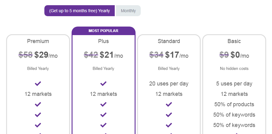 Egrow Pricing & Plans Yearly
