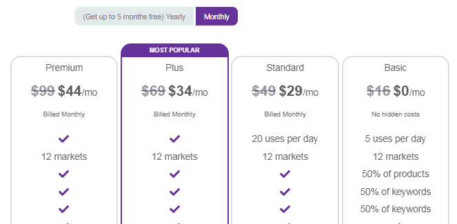 Egrow Pricing & Plans monthly