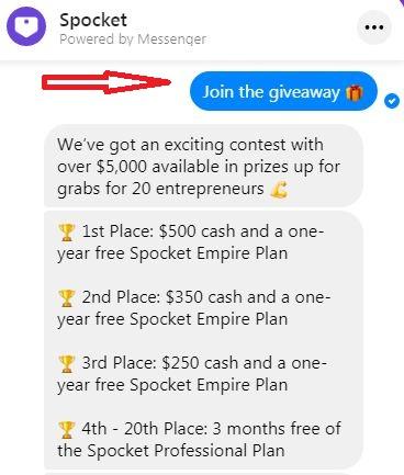 Spocket Giveaway Deal