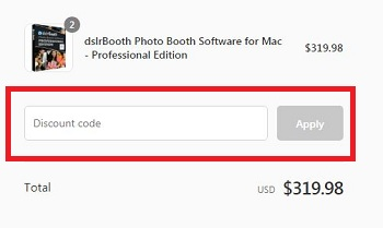 dslrBooth Discount code apply