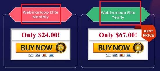 Webinarloop Pricing & Plans