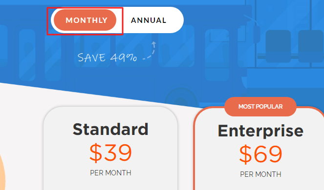 Doodly Monthly pricing
