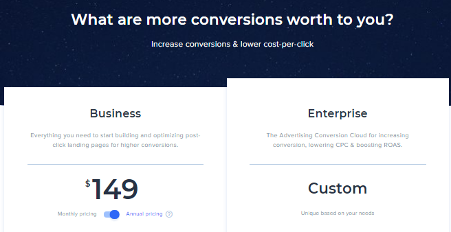 Instapage pricing & Plans