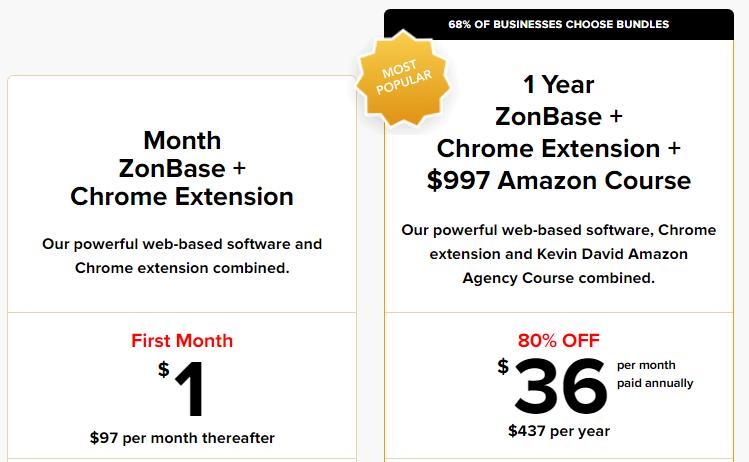 ZonKeywords Price