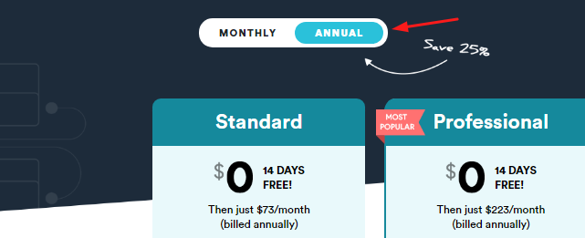 Voomly Annual Plans Pricing