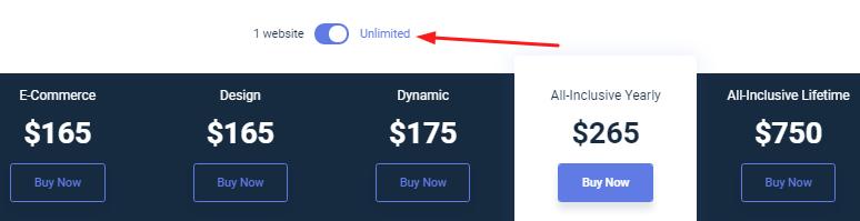 Crocoblock Pricing for Unlimited Websites