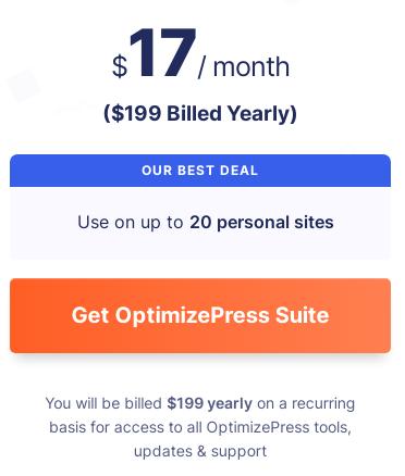 WordPress Landing Page Builder & Funnel Builder Pricing