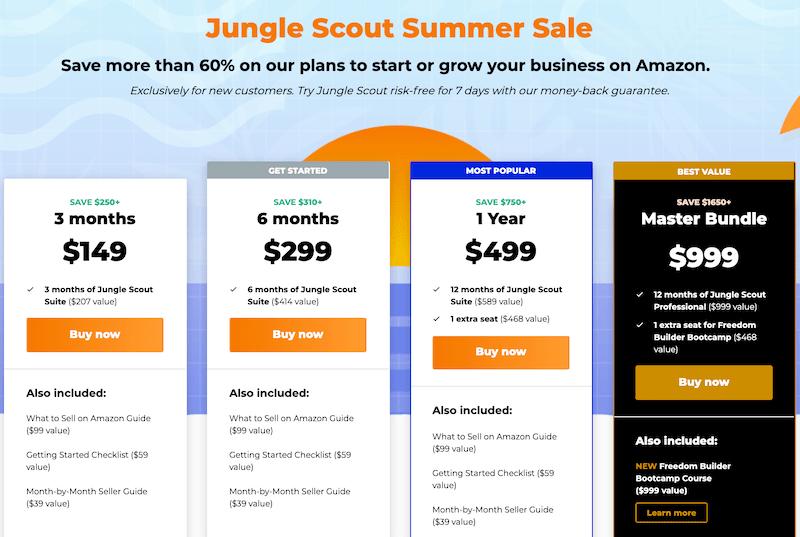 Jungle Scout summer sale